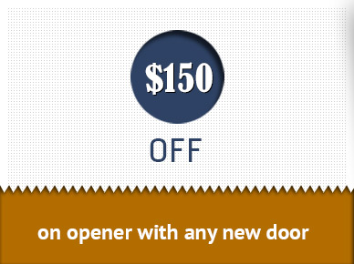 $150 off on opener with any new door